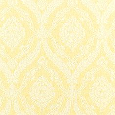 Laurel Wallpaper In Yellow From The Damask Resource 2 Collection Thibaut