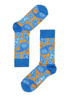 Blue paisley cool socks for fun people at HappySocks.com. I'm seriously addicted to Happy Socks, and, yes, they are men's socks! :)