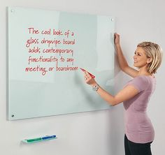 Write on Magnetic Glass Whiteboards | Display/Presentation
