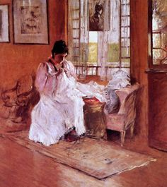 William Merritt Chase (1849-1916) Mrs William Merritt Chase (Alice Bremond Gerson) For the Little One 1896 Detail