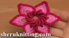 Crochet Irish Flower Tutorial 19 http://sheruknitting.com/videos-about-knitting/irish-and-guipure-crochet-lace/item/830-crochet-irish-flower-tutorial-19.html In this irish lace tutorial I will be making this crochet irish 6-petal flower.