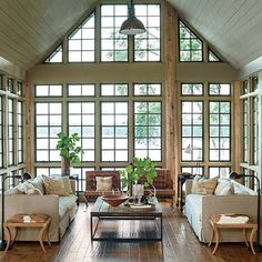 wow such a gorgeous room - that window wall
