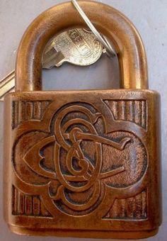 Beautiful Sargent pin-tumbler padlock, possibly the square pin variety