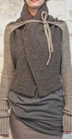 knit jacket - daniel andresen aw14