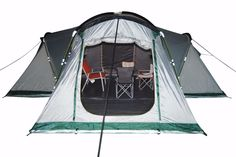 Vega 6-Man LARGE multi-Room Family Camping Dome Tent #TheCampingEquipmentCompany #Dome