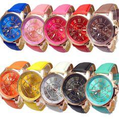 2015 Geneva Watch Women Fashion Quartz Watches Casual Ladies Dress Watches Gold Roman Dial Wristwatch Relogio Feminino Masculino http://cinderellajewelry.com/