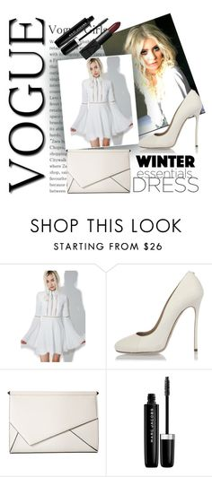 """""""Winter Essentials Long Sleeve Dress"""" by oliviaboston ❤ liked on Polyvore featuring For Love & Lemons, Dsquared2, Kendall + Kylie, Marc Jacobs and NARS Cosmetics"""