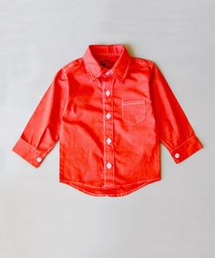 This Red Button-Up - Infant, Toddler & Boys by Littlest Prince Couture is perfect! #zulilyfinds