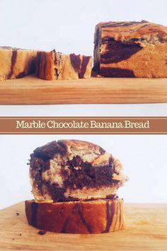 mochaloca Marble Chocolate, Chocolate Banana Bread, Vegan Recipes, Muffin, Breakfast, Sweet, Desserts, Food, Overripe Bananas