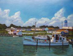 Bay Boats, Nautical Art, Tangier, Chesapeake Bay, Wooden Boats, Ocean City, Bay Area, Canoe, Vacation Ideas