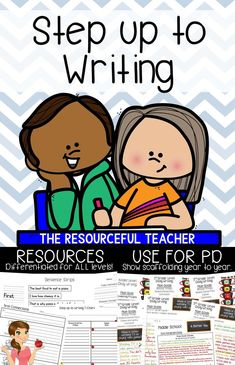 Want to learn Step up to Writing or understand and teach other teachers how to use it in their classrooms? This Step up to Writing Resources product is set up as a PowerPoint presentation showing how Step up to Writing builds year after year for students in each grade level. It also includes Step up to Writing posters, student samples, teacher bulletin board samples, references pages, writing pages, graphic organizers, and grading rubrics! #writingprompts #teaching