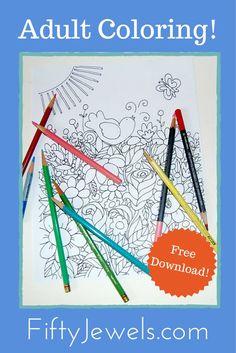 Adult Coloring, relaxing, fun and easy to get started. 4 Beautiful Pages of Hand Drawn unique illustrations for you to color. Click through for your FREE Download! #art #adultcoloring #coloring #printable #downloads