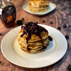 🥞 Happy Pancake Day 🥞   Pancake day is finally here and we are thinking back to these delicious blueberry pancakes.   We made a blueberry compote to top the pancakes and finished with a drizzle of maple syrup!  Head over to @rhiabakes for the full recipe!  #pancakes🥞 #pancake #pancakestack #pancakerecipe #pancakeday #shrovetuesday Blueberry Compote, Blueberry Pancakes, Happy Pancake Day, Pancake Stack, Maple Syrup, Yummy Food, Breakfast, Recipes, Top