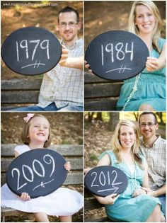 Pregnancy announcement idea: Dad, Mom, older siblings and baby-to-be's birth years. Maternity Pictures, Pregnancy Photos, Baby Pictures, Pregnancy Tips, Family Pictures, Maternity Photography, Family Photography, Happy Home Fairy, Cute Photos