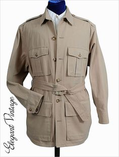 Vintage Banana Republic Safari jacket. This was created when the store was brand new....and very much aiming at this aesthetic, more of a safari and adventure supply store; now they're a cross between the Gap and Abercrombie and Fitch. Its a real shame.