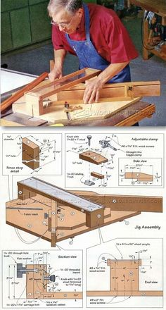Table Saw Miter Jig Plans - Table Saw Tips, Jigs and Fixtures | WoodArchivist.com