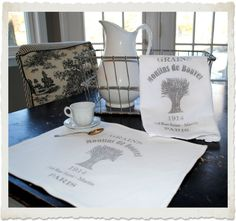 Crafty Project & Printable - Make a French Grain Sack Towel!