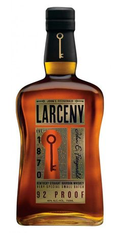 Larceny Kentucky Straight Bourbon Whiskey combines an authentic brand history and intriguing story with outstanding, extra aged wheated Bourbon, making for a very attractive alternative for the more sophisticated American Whiskey consumer. Good Whiskey, Cigars And Whiskey, Scotch Whiskey, Whiskey Sour, Whiskey Glasses, Vodka, Tequila, Wheated Bourbon, Bourbon Brands