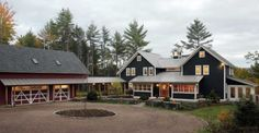 Wow, looks like two 1/2 story house together. And look at that barn!