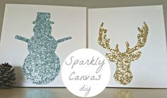 Sparkly Canvas DIY
