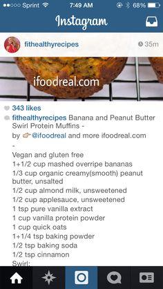 Banana and PB Swirl Muffins
