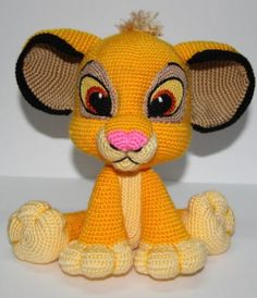 Crochet Patterns Beanie Lion Kion Crochet Pattern PDF Lion Simba by von AmbercraftstoreSimba from the Lion KingPattern available for a wee fee at Ambercraftstore's Etsy store.Crochet Patterns Beanie This cute crochet Lion toy you can make by yourse Crochet Simple, Cute Crochet, Crochet Crafts, Crochet Projects, Quick Crochet, Crochet Baby, Craft Projects, Craft Ideas, Crochet Lion