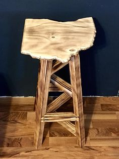 Home made and hand cut Bar stool in the shape of Ohio Seat dimension - Height of stool - made to order Other states and Height can be made upon request-We can customize the bar stool to your liking please message for details. Rustic Bar Stools, Unique Jewelry, Handmade Gifts, Ohio, Naked, Furniture, Vintage, Etsy, Home Decor