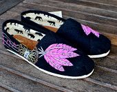 Pink baby blue and lime green Dream Catcher TOMS shoes. $129.00, via Etsy.    more dream catcher TOMS!!