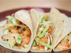 Kung Pao Shrimp Tacos (Lee Anne Wong via the Cooking Channel).