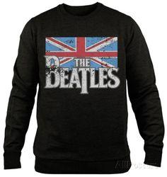 Crewneck Sweatshirt: The Beatles - Distressed British Flag T-shirts at AllPosters.com