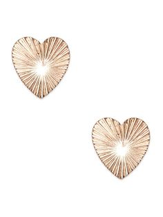 This stud set takes the heart motif and gives it a rather radiant twist. Who knew adding a sunburst-like pattern would up the elegant factor in a major way?