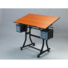 Save space in your classroom or recreation room with these black hobby tables. The sturdy desktop on each table is strong enough to hold any craft, art, or hobby supplies. It can swivel up to 45 degrees for precise measuring and drawing.