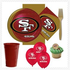 San Francisco 49ers Super Bowl Party for 16! Just unpack it & party! #superbowl