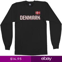 269fedc8080 Threadrock Mens Denmark National Team Long Sleeve T-shirt scandinavia