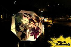 Hand painted umbrella will make you want to go out in the rain