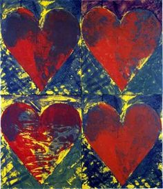 Jim Dine - it kind of looks like a nice Hallmark card design, but Jim Dine was the real deal...