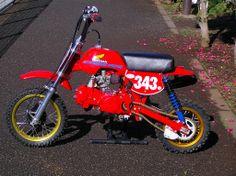 "Honda Z50J1. Customised to resemble the Honda Elsinore ""Red Devil"". #HondaMonkey #Z50"