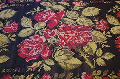 c1900s ANTIQUE COLORFUL BESSARABIAN KILIM RUG 4.9x12.3 SIGNED VERY IMPORTANT