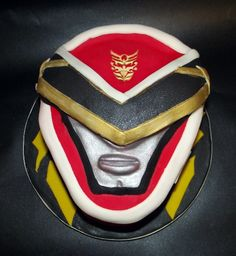 Red Power Rangers cake