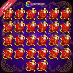 DESCENDANTS Full Alphabet Clipart 73 PNG Files by ElectroPaper