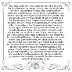 Lessons Learned in Life | This goes out to all the people who have been broken.