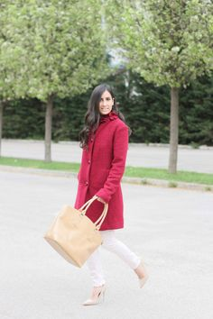 Burgundy Coat  Be Happy With Fashion