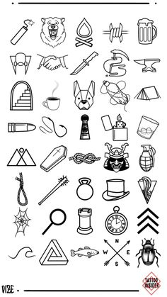 160 original small tattoo designs and small tattoo ideas, with 80 new designs including 40 for men and 40 for women. tattoo for men 160 Original Small Tattoo Designs - Tattoo Insider Small Tattoo Placement, Cool Small Tattoos, Small Tattoos For Guys, Small Tattoo Designs, Tattoo Designs Men, Simbolos Tattoo, Doodle Tattoo, Tattoo Drawings, Tiger Tattoo