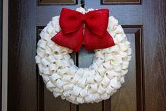 "Peppermint Christmas Bubble Burlap Wreath with Burlap Bow - Choose Your Colors 19"" MEDIUM on Etsy, $50.00"