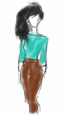 Teal Love  Practicing my sketching skills