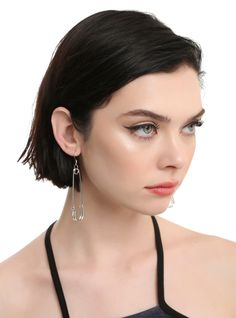 """Looking for unique earrings? Put a pin in it. Two extra-large safety pin designs make excellent dangle earrings.      3"""" x 5/8""""  Alloy  Imported"""
