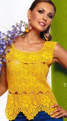 Nice yellow top with diagram