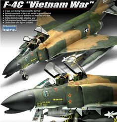 F-4C Phantom Vietnam war 1/48 Academy Plastic Model kit / Free tracking number #Academy