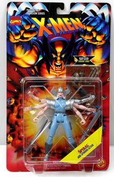NIB X-Men Invasion Series SPIRAL Arm-Spinning Action Figure Toy Biz Marvel 1995