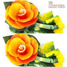 Świeca ręcznie robiona. Doskonały dodatek na wiosnę do Twojego domu http://www.kwiatyupominki.net/upominki-swiece-c-77_82.html
